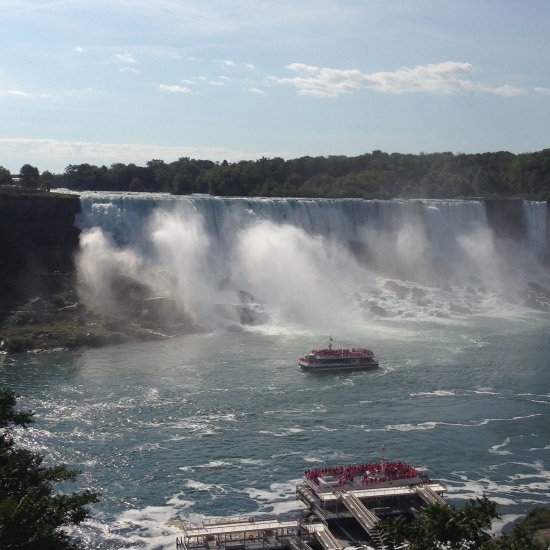 On the Canadian side of the world famous Niagara Falls.