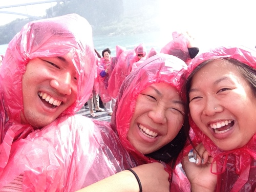 Thank goodness for the ponchos. They kept is from getting soaked by the Falls!